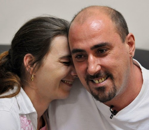 Serge Atlaoui and his wife