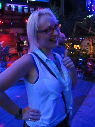 Dressed for the heat in Green Mango club, Koh Samui