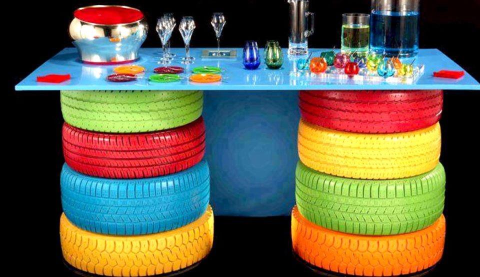 Ecomania blog maneras de reciclar neum ticos en tu hogar for Mesas con neumaticos