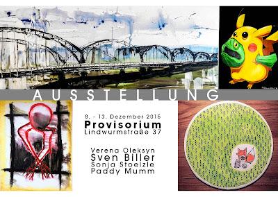 München, Ausstellung, crazymolusk, Streetart, Leinwand Öl, Acryl, Mischtechniken