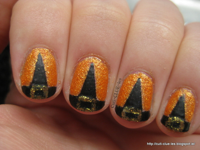 I love this manicure. It was a bit time consuming but that was mainly down  to Zoya Beatrix taking so long to dry. I have tried it with other polishes  and it ... - Cuti-CLUE-les: Witch Hat Nail Art