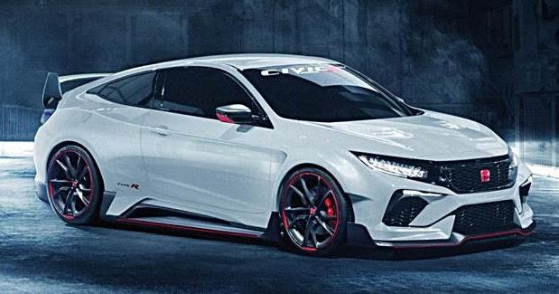 2018 Honda Civic Type R Rendered   Auto Honda Rumors