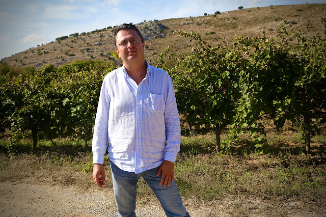 Nikos Miliarakis, owner of Minos wines, crete
