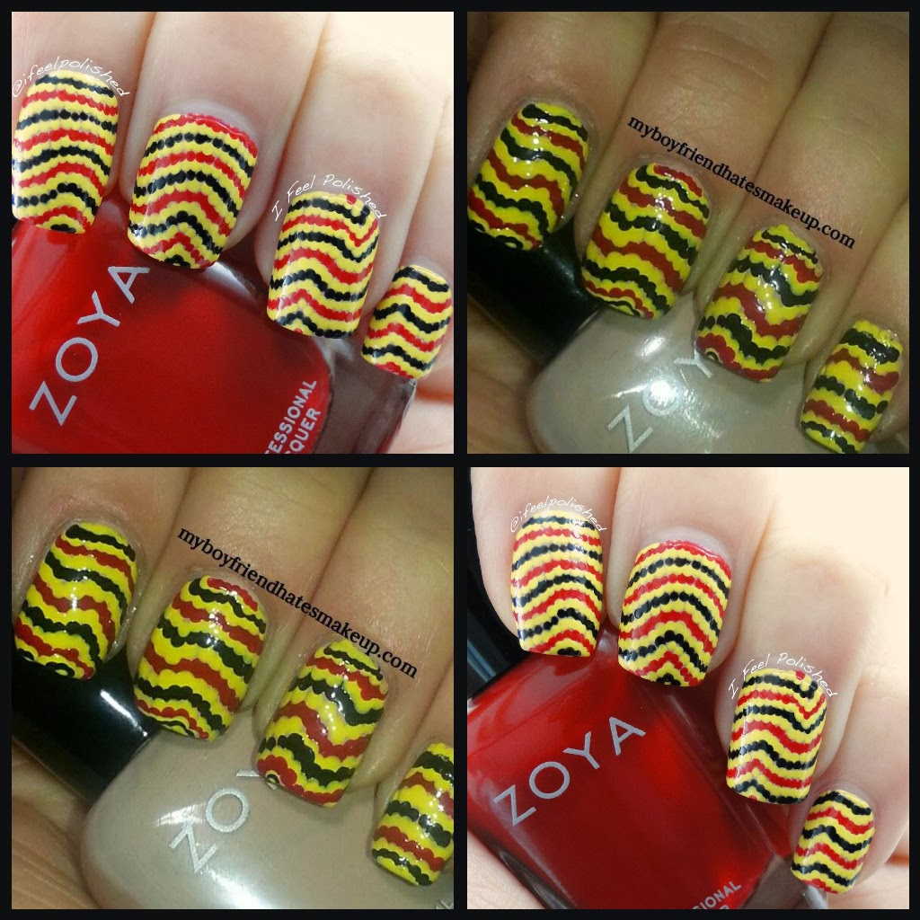 Snake Stripe Twin Nails