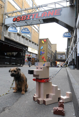 Pixelated dog 8 Bit Lane Wreck-it Ralph London