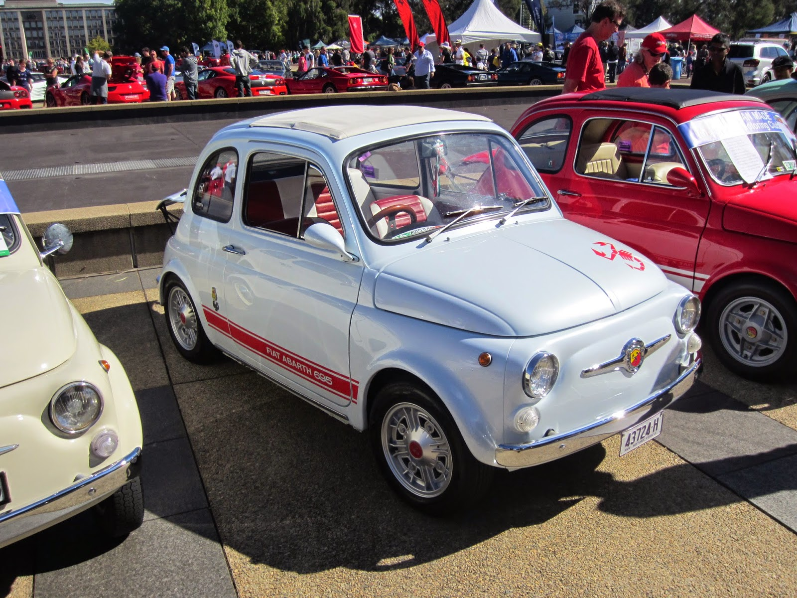 on four wheels: Auto Italia 2015 - Abarth FIAT old and new