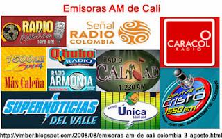 Emisoras AM de Cali, Colombia - Diseño por Yimber Gaviria