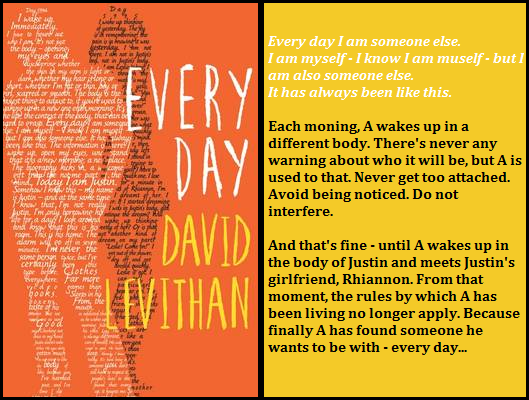 book review every day by david Read [book review] from the story every day by david levithan by generoseescarda (gene rose) with 3,604 reads bookreview, everyday, davidlevithan back of the.