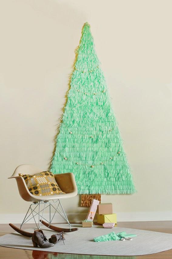 DIY Árbol de navidad con papel seda y cartulina5