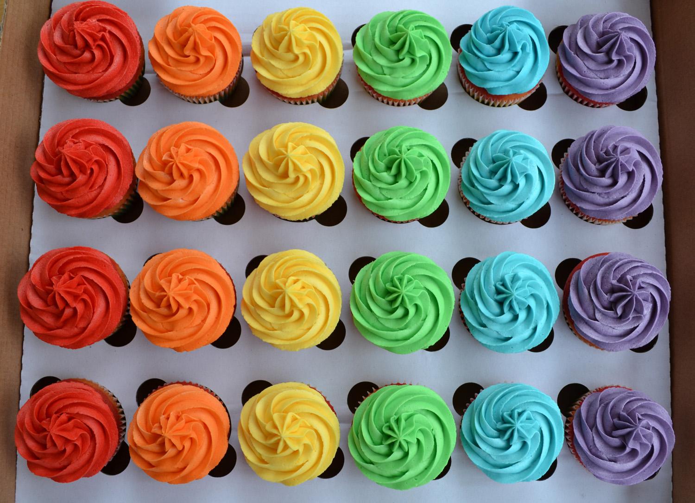 Bright Colorful Cupcakes Bright Rainbow Cupcakes