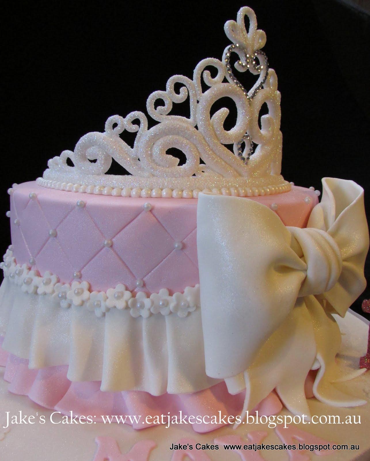 Princess Crown Cake Images : Jake s Cakes: Princess Tiara Cake