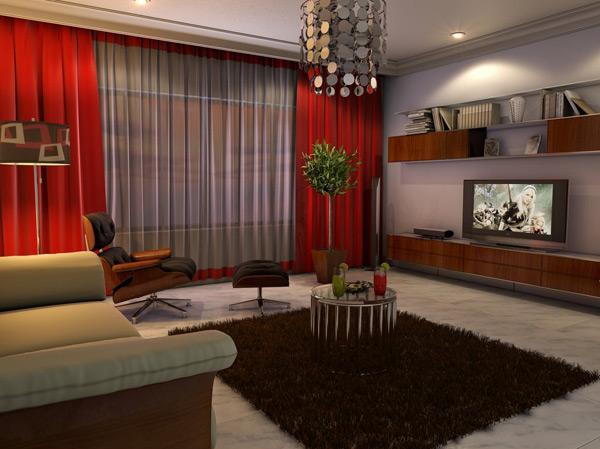 desain rumah desain ruang tamu modern kontemporer