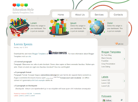 Education Style Blogger Theme