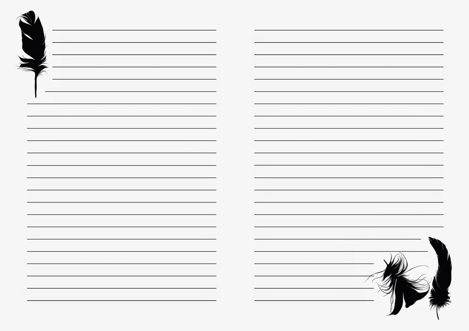 распечатать косую линию тетрадь а4