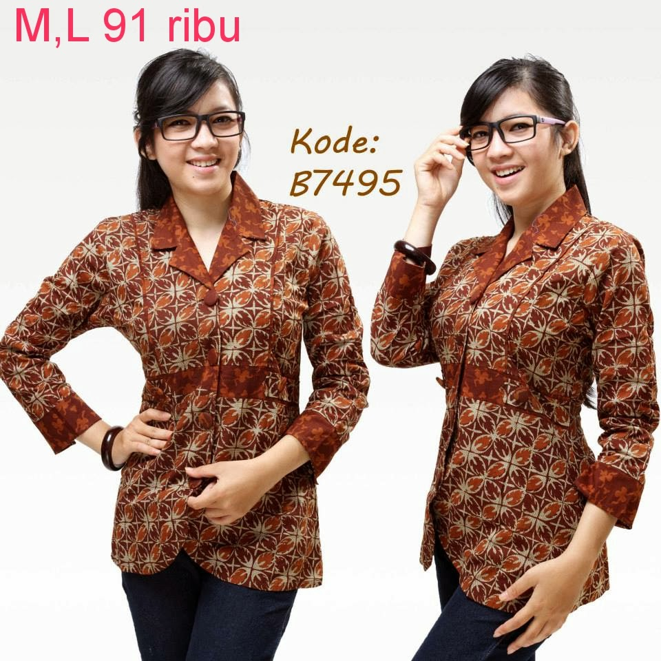 model baju polos kombinasi batik