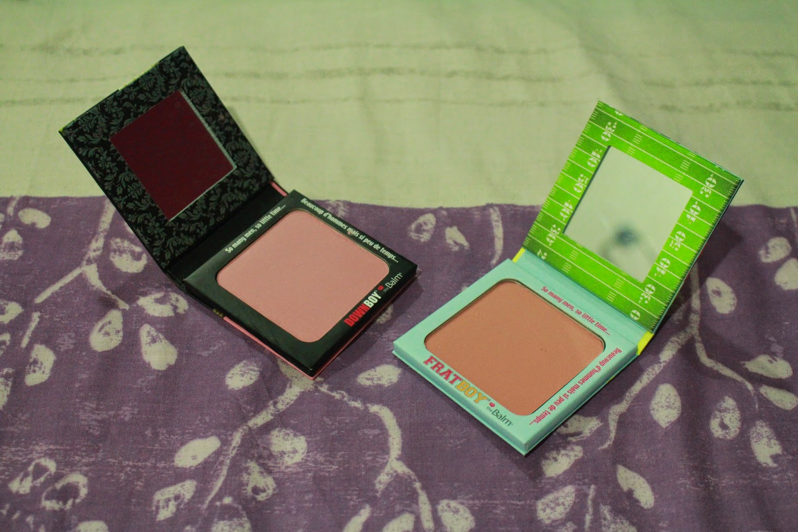 The Balm Frat Boy and Down Boy blushers