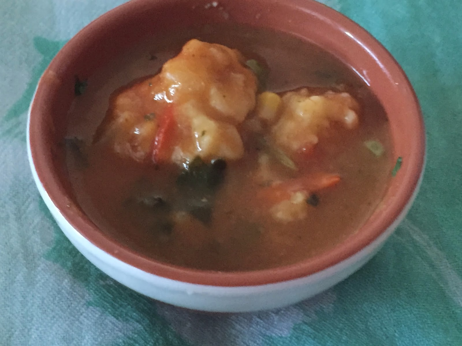 Dumplings and Vegetable Soup