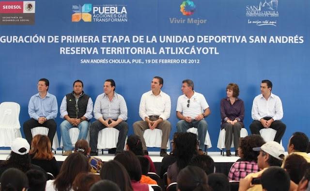 Inician obras de alto impacto en San Andrés Cholula