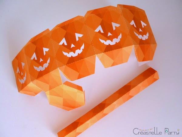 modèle plié  DIY lanterne halloween