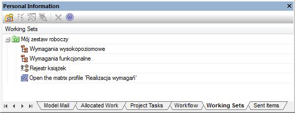 Przykładowy zestaw roboczy (working set)