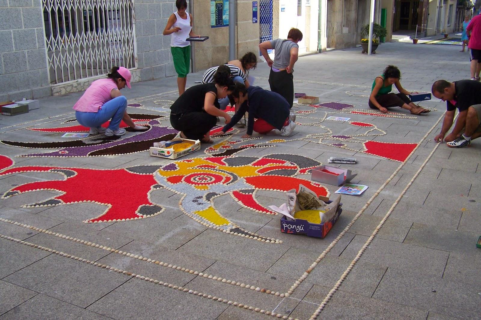 Alfombras y flores y Festa da Coca en Redondela