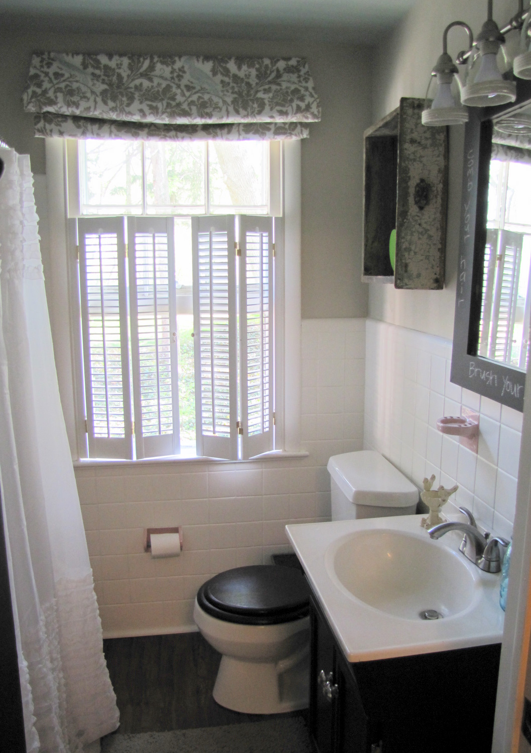 Smoke & Mirrors - A Bathroom Reveal } - The Painted Home by Denise Sabia