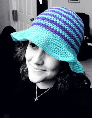 Cute as a Button Brimmed Cap Hat for Baby | Free Crochet