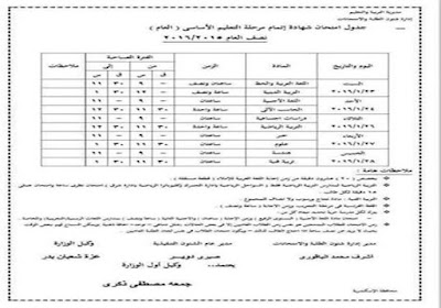 2016 Half-year exams in Alexandria