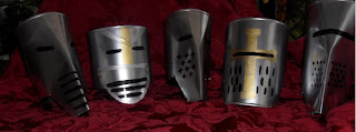 Medieval Wedding Car Tin Can Helmets