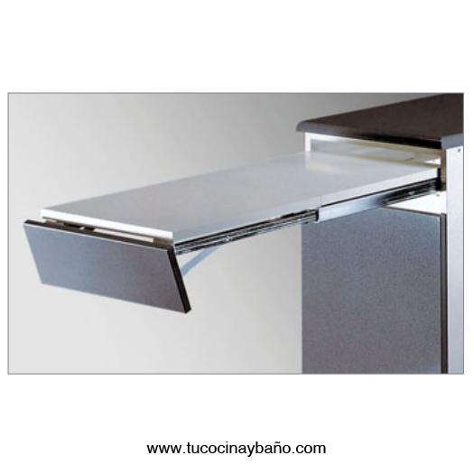 Mesa extraible cajon cocina tu cocina y ba o - Mesa cocina con cajon ...