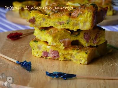 ricetta frittata di cipolle e pancetta con cottura in forno...come rompere le uova senza poi rigirare il tutto!!! ^_^
