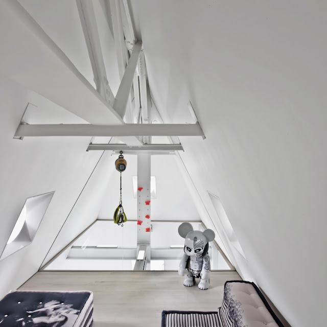 Attic floor in the penthouse
