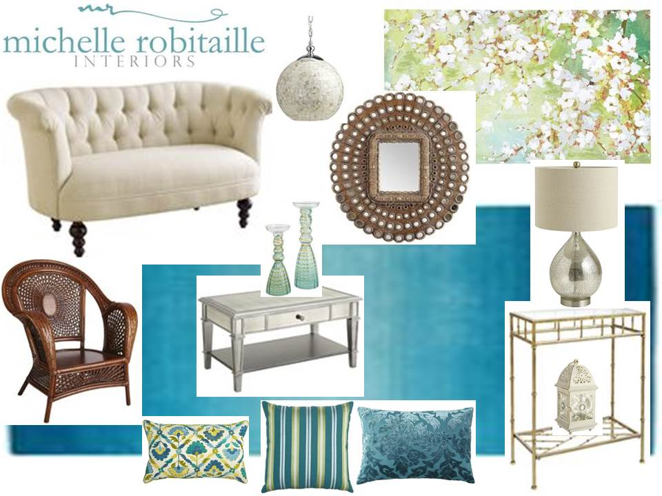 Michelle robitaille interiors pier 1 design board for Pier 1 living room ideas