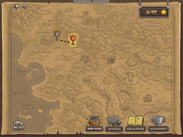 Kingdom Rrush Frontiers 關卡地圖