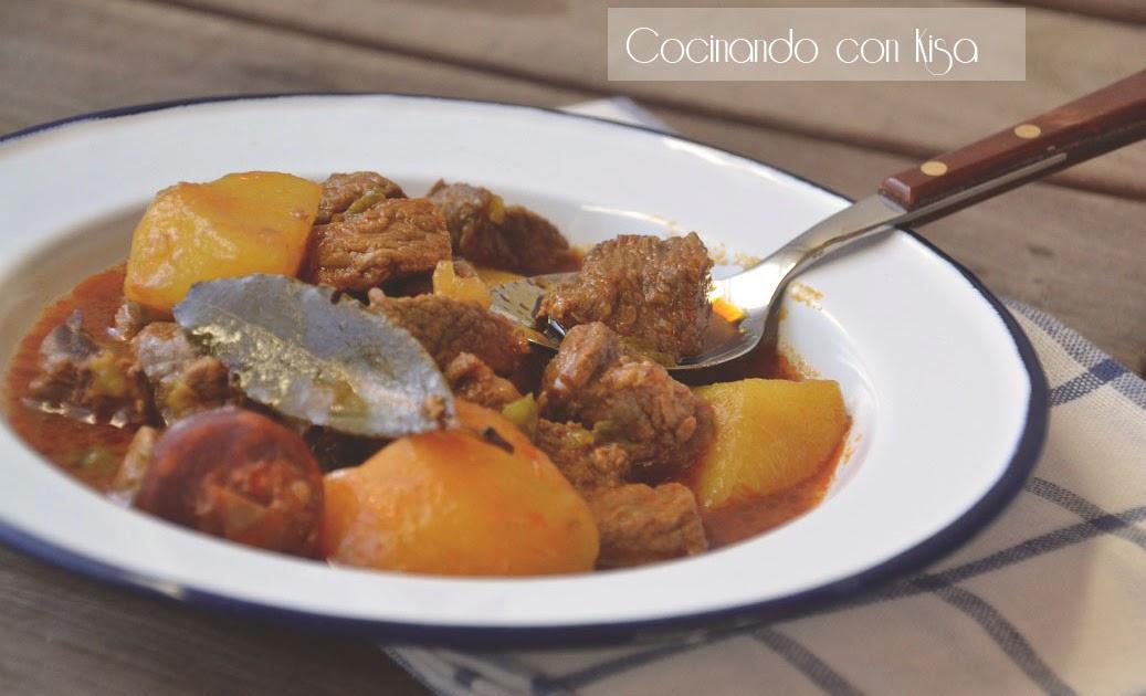 Cocinando con kisa patatas con carne a la riojana for Cocinando con kisa