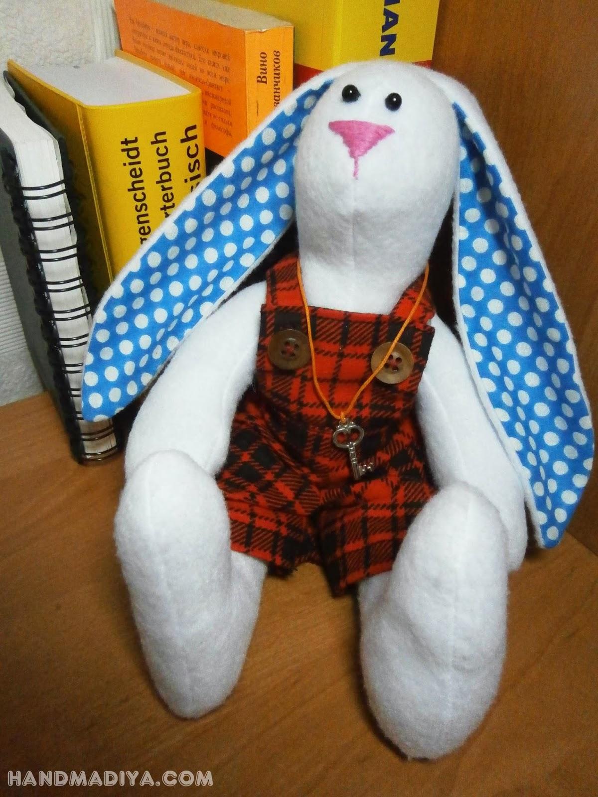 Кукла тильда зайчик. Rabbit tilde step-by-step tutorial DIY