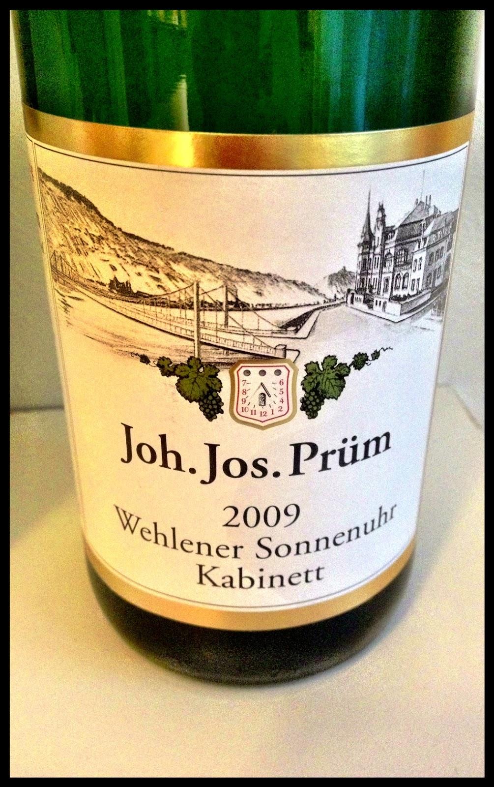 Tasting note on the 2009 Joh. Jos. Prüm Wehlener Sonnenuhr Riesling Kabinett