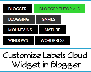 How to Customize Labels Cloud Widget in Blogger