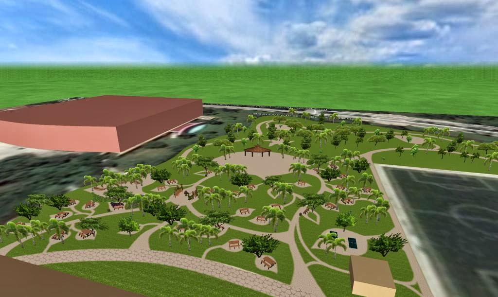 Parque ecol gico re creativo areas verdes hotel for Modelos de parques y jardines