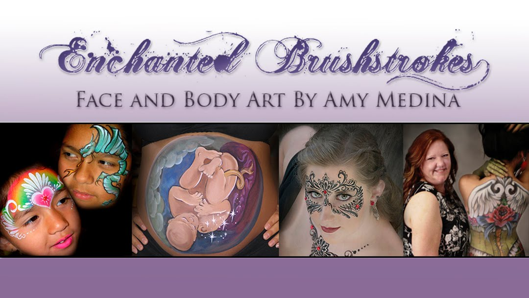 Enchanted Brushstrokes Face and Body Painting By Amy Medina