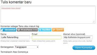 design Comment Blogspot