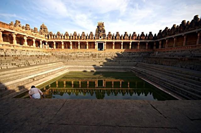 Temple tank in Tamil Nadu