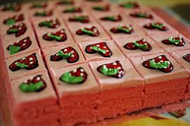 strawberry slice cake