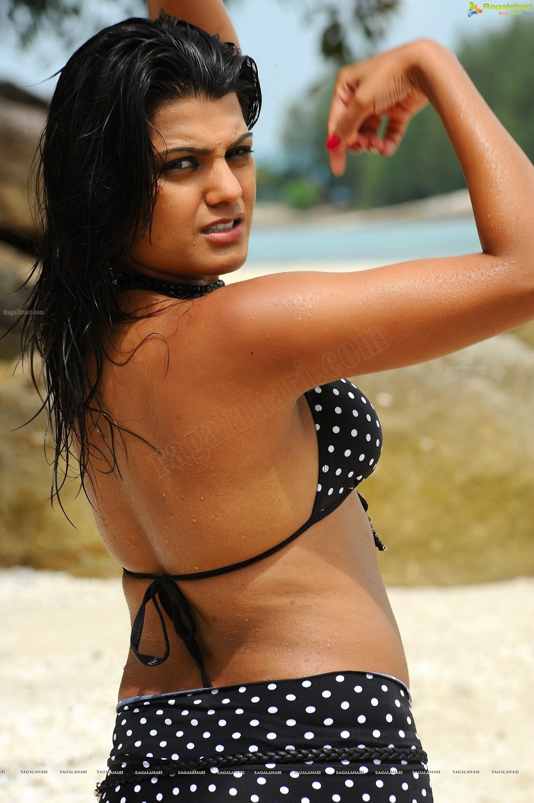 Tashu Kaushik Showing Her Armpit,Navel & Thighs In black bikni