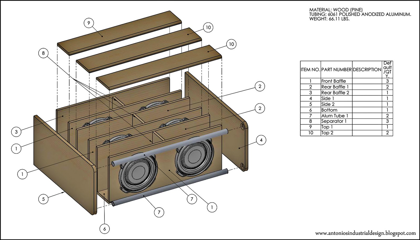 Antonios Industrial Design Subwoofer Enclosure Tl Monster Sub Box Wiring Diagram