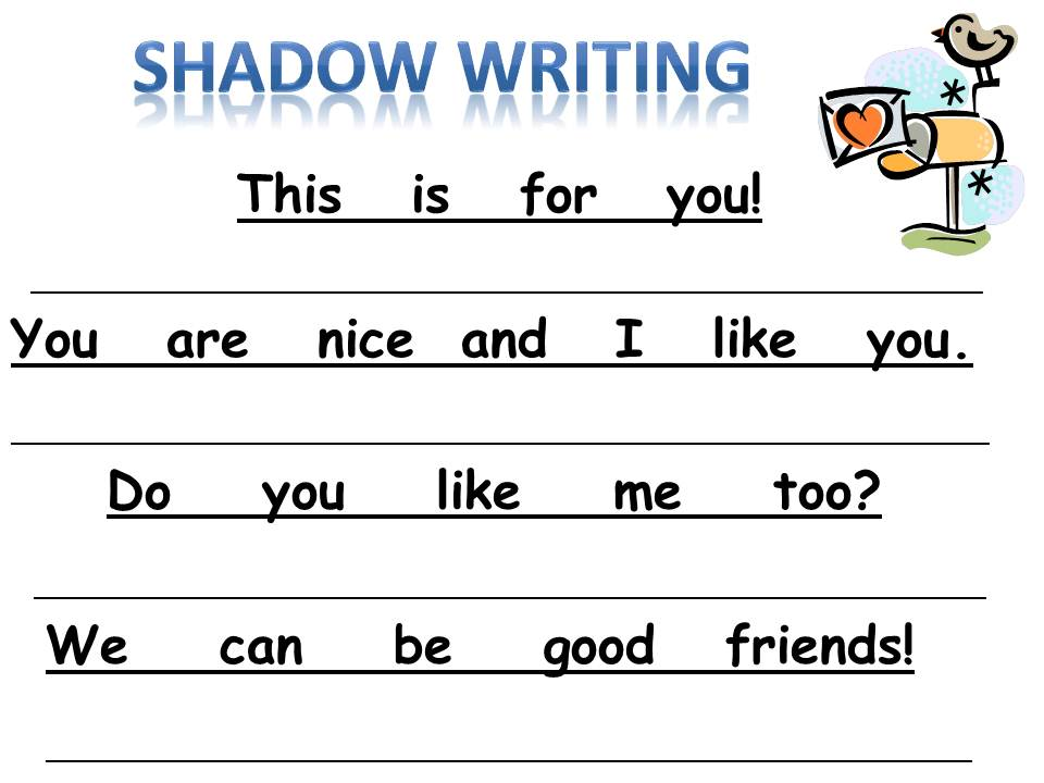 Shadow Love the  For of worksheets  Valentine  New Writing kindergarten for sight Freebie writing words Kindergarten: