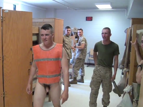 US military nude fight