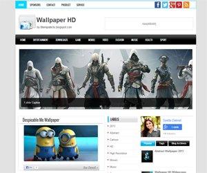 Wallpaper HD Blogger Template | Probtemplates