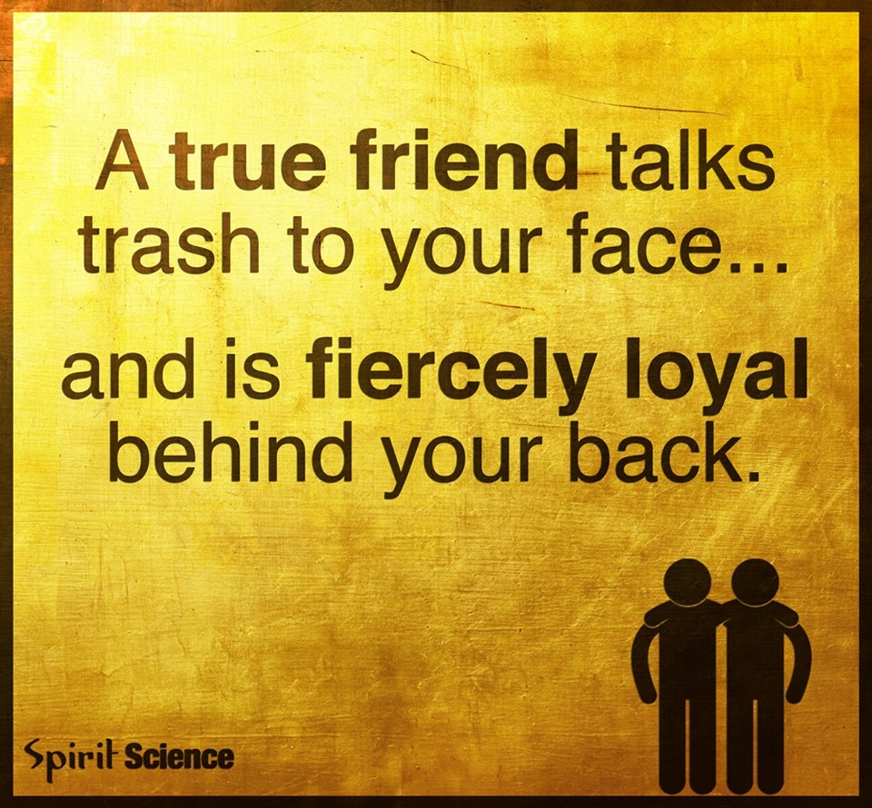 Quotes About True Friendship And Loyalty A True Friend Talks Trash To Your Face And Is Fiercely Loyal