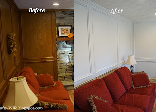 judges painted paneling before and after | A Crafty Wife